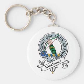 Insignia del clan de MacInnes Llavero Redondo Tipo Pin
