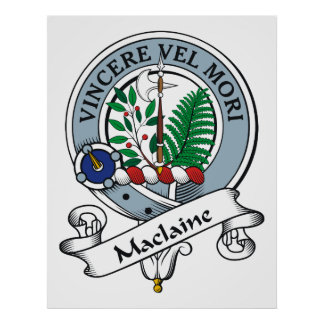 Insignia del clan de Maclaine Póster