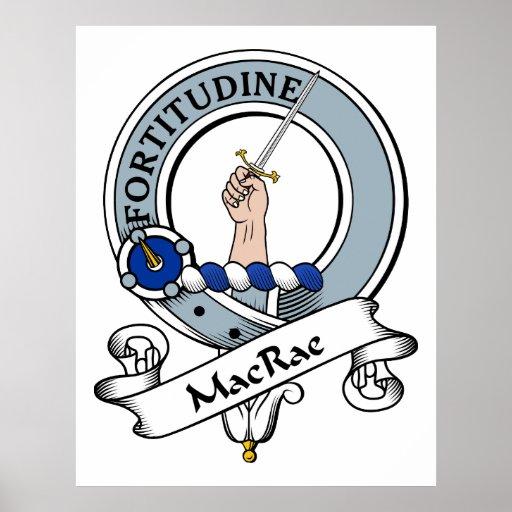 Insignia del clan de MacRae Poster