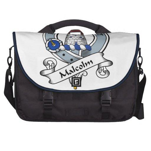 Insignia del clan de Malcolm (MacCullum) Bolsas Para Portatil