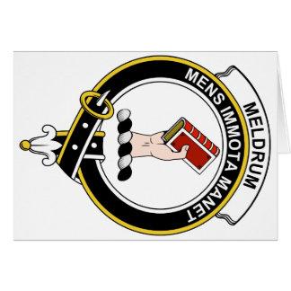 Insignia del clan de Meldrum Tarjeta De Felicitación