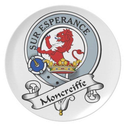 Insignia del clan de Moncreiffe Plato Para Fiesta