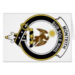 Insignia del clan de Monteith Felicitacion