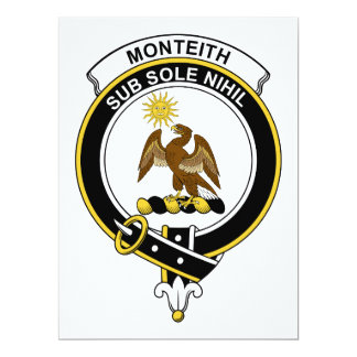 Insignia del clan de Monteith Invitaciones Personalizada