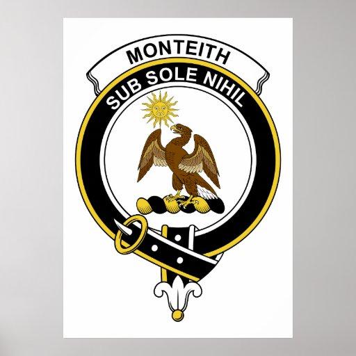 Insignia del clan de Monteith Poster