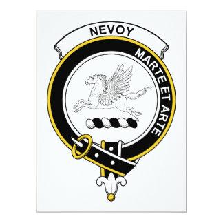 """Insignia del clan de Nevoy Invitación 6.5"""" X 8.75"""""""