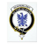 Insignia del clan de Ochterlony Invitación 16,5 X 22,2 Cm