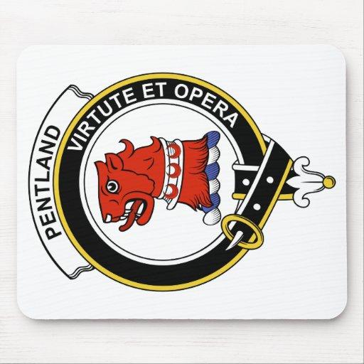 Insignia del clan de Pentland Tapetes De Raton