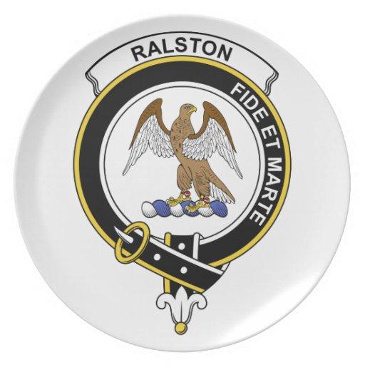 Insignia del clan de Ralston Plato Para Fiesta