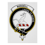 Insignia del clan de Riddell Posters