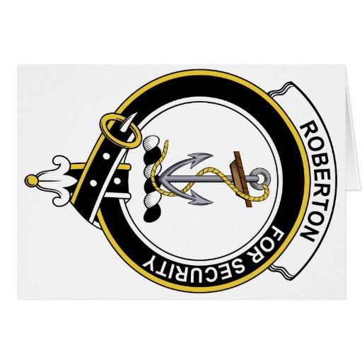 Insignia del clan de Roberton Felicitaciones