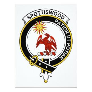 """Insignia del clan de Spottiswood Invitación 6.5"""" X 8.75"""""""