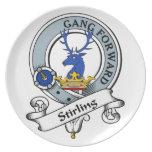 Insignia del clan de Stirling Platos De Comidas