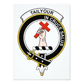 Insignia del clan de Tailyour Invitación 16,5 X 22,2 Cm