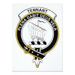 Insignia del clan de Tennant Invitación 16,5 X 22,2 Cm