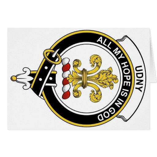 Insignia del clan de Udny Tarjeton