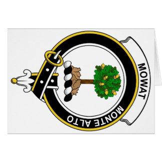 Insignia del clan de Walkinshaw Tarjeta De Felicitación