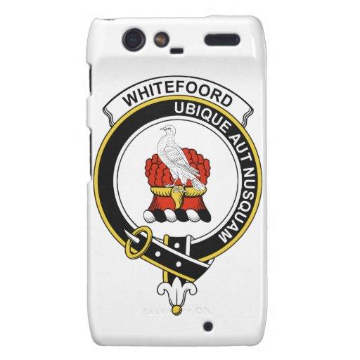 Insignia del clan de Whitefoord Droid RAZR Carcasas