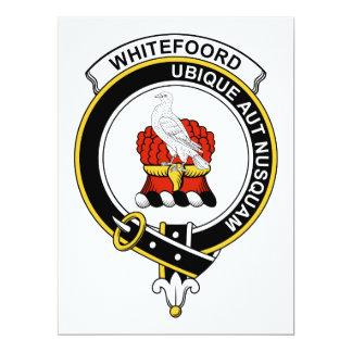"""Insignia del clan de Whitefoord Invitación 6.5"""" X 8.75"""""""