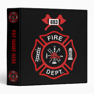 "Insignia del cuerpo de bomberos carpeta 1 1/2"""