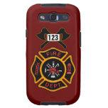 Insignia del cuerpo de bomberos samsung galaxy s3 funda