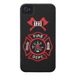 Insignia del cuerpo de bomberos Case-Mate iPhone 4 carcasas