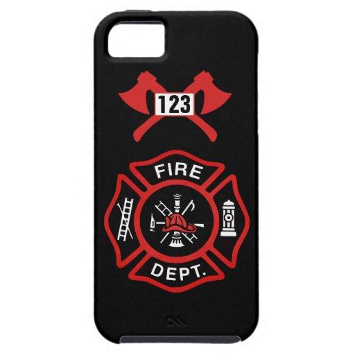 Insignia del cuerpo de bomberos funda para iPhone SE/5/5s