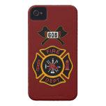 Insignia del cuerpo de bomberos iPhone 4 funda