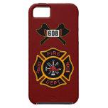 Insignia del cuerpo de bomberos iPhone 5 fundas