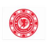 Insignia del el día de San Valentín Postal