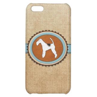 Insignia del emblema del perro del fox terrier