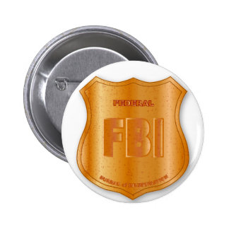Insignia del escudo de la parodia del FBI Pin Redondo De 2 Pulgadas