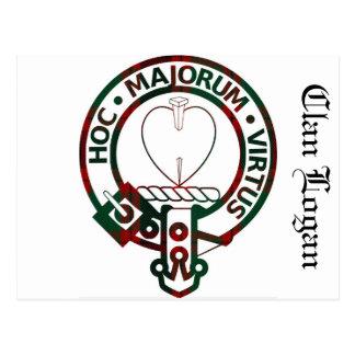 Insignia del escudo de Logan del clan Tarjetas Postales