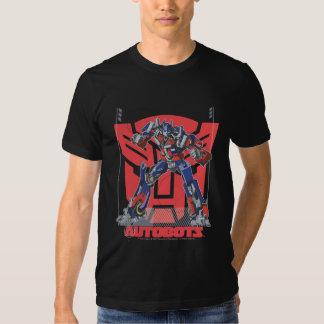 Insignia del escudo de Optimus Autobot Playeras