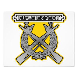 Insignia del experto del rifle anuncios personalizados