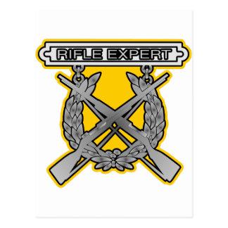 Insignia del experto del rifle postales
