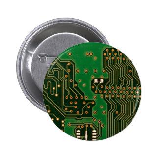 insignia del fondo de la placa de circuito pins