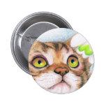 Insignia del gatito y del botón del Nieve-descenso Pins