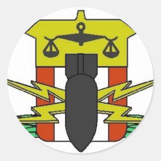 Insignia del HDT Pegatina Redonda