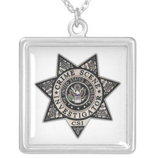 insignia del investigador de la escena del crimen  colgante personalizado