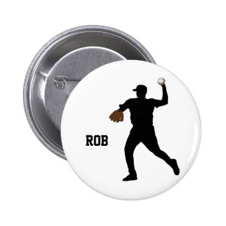 insignia del jugador de béisbol pin redondo de 2 pulgadas
