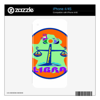 Insignia del libra skins para eliPhone 4S