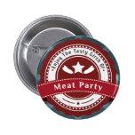 Insignia del logotipo del fiesta de la carne pins