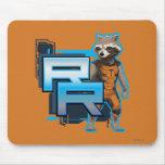 Insignia del mapache de Rocket Alfombrillas De Raton