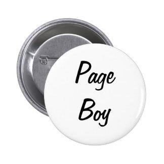 Insignia del muchacho de la página pin redondo 5 cm