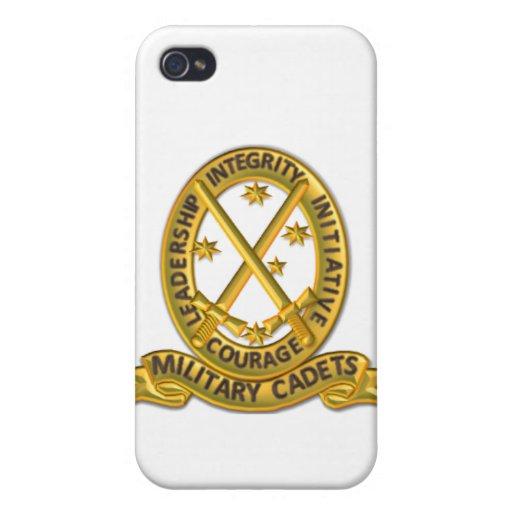 Insignia del oro del caso de MC_iPhone iPhone 4 Carcasas