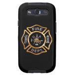 Insignia del oro del cuerpo de bomberos galaxy s3 protector