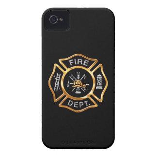 Insignia del oro del cuerpo de bomberos iPhone 4 fundas