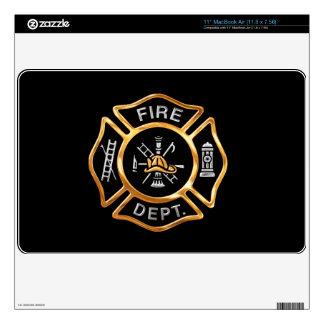 Insignia del oro del cuerpo de bomberos skins para 27,9cm MacBook air