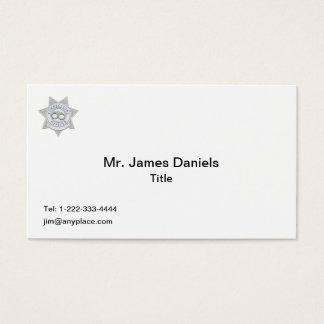 Insignia del personalizado del oficial de tarjetas de visita